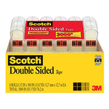 Scotch Brand Double Sided Tape, Narrow Width, No Mess, Long-Lasting, Photo-Safe, 1/2 X 500 Inches, 6 Dispensered Rolls (6137H-2Pc-Mp)