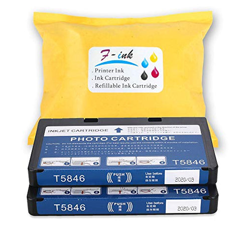 F-Ink Remanufactured Ink Cartridge Replacement For T5846 Ink,Works With Picturemate Pm225 Pm200 Pm300 Pm240 Pm260 Pm280 Pm290 Printer -2Pk