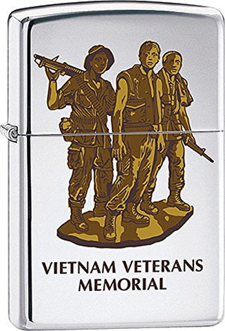 Vietnam Veterans Memorial Military Zippo Lighter