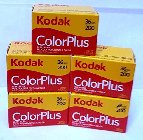 5 Rolls Of Kodak Colorplus 200 Asa 36 Exposure