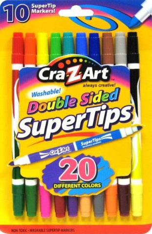 Cra-Z-Art Double Ended Super Tip Markers, 10 Count (10047)