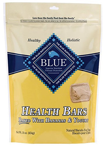 Blue Buffalo Health Bars For Dogs, Banana Yogurt, 16-Ounce Bag