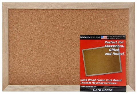 Dooley Wood Framed Cork Board, 11 X 17 Inches, 1 Board (1218Co)