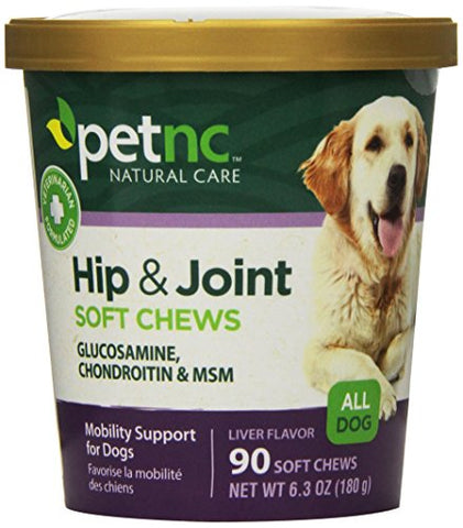Petnc Natural Care Hip And Joint Soft Chews For Dogs, 90 Count - 27591