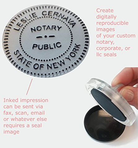 Seal Impression Inker, Shiny, 2-Inch Diameter