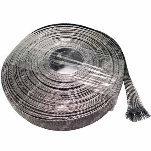 3/4  Stainless Steel Braided Sleeving (304Ss) - Length: 10 Feet