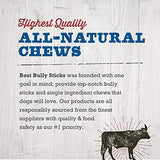 Best Bully Sticks 6-Inch Supreme Bully Sticks  All Natural Dog Treats