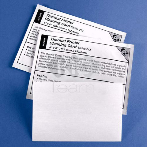 Thermal Printer Cleaning Card 4X6-101.6Mm X 152.4Mm Series 212 (3 Layer)