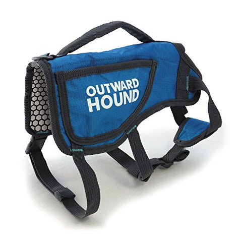 Outward Hound Kyjen  3070 Thermovest Heat Reflective Dog Vest Winter Coat, Large, Blue