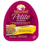Wellness Petite Entrees Casserole Natural Grain Free Wet Small Breed Dog Food, Tender Chicken, 3-Ounce Cup
