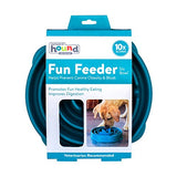 Outward Hound Fun Feeder Slo-Bowl Healthy Slow Feeding Dog Bowl, Large, Teal