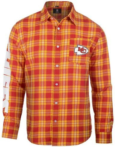 Kansas City Chiefs Wordmark Basic Flannel Shirt Extra Large
