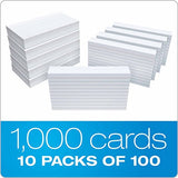 Oxford Ruled Index Cards, 3  X 5 , White, 1,000 Cards (10 Packs Of 100) (31)