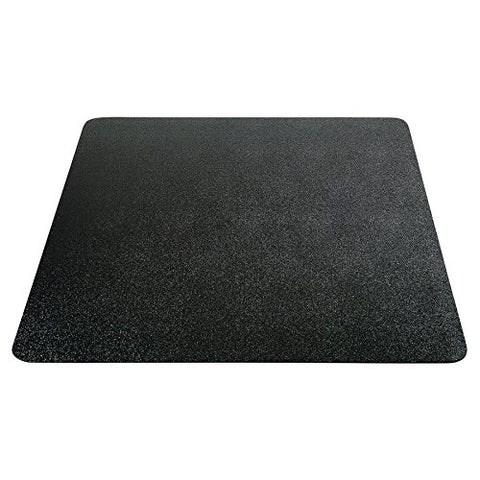 Deflecto Economat Chair Mat, Non-Studded For Hard Floors, Straight Edge, 36  X 48 , Black (Cm21142Blkcom)