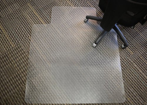 Mammoth Office Products Pvc Plastic Chair Mat For Low Pile (Less Than 1/4-Inch) Carpeting, 36X 48 Inches Rectangular With Lip For Under-Desk (V3648Llp)