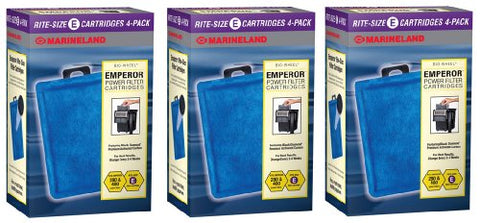Marineland Rite-Size E 12-Pack, Emperor Power Bio-Wheel Filter Replacement Filter Cartridges