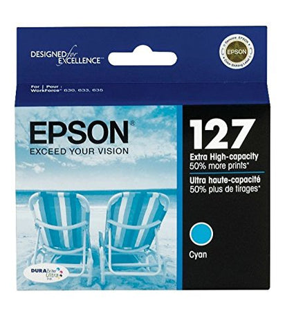 Epson T127220 Durabrite Ultra Cyan Extra High Capacity Cartridge Ink