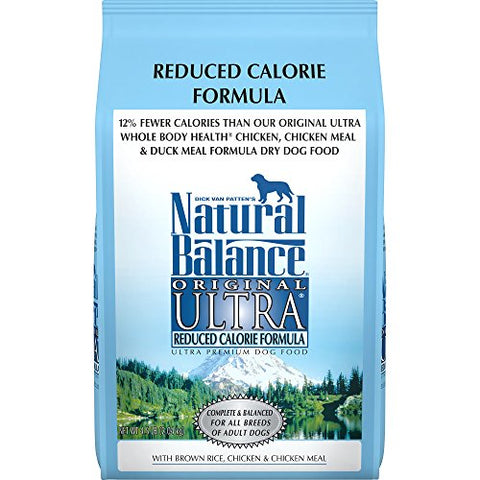 Natural Balance Original Ultra Reduced Calorie Formula Dry Dog Food, 4.5-Pound