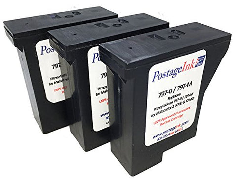 797- M  Pitney Bowes Red Ink Cartridge For K700, Mailstation And Mailstation2 Postage Meters