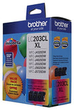 Brother Genuine High Yield Color Ink Cartridge, Lc2033Pks, Replacement Color Ink Three Pack, Includes 1 Cartridge Each Of Cyan, Magenta &Amp; Yellow, Page Yield Up To 550 Pages, Amazon Dash Replenishment Cartridge, Lc203