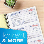 Adams Money And Rent Receipt Book, 2-Part Carbonless, 5-1/4  X 11 , Spiral Bound, 200 Sets Per Book, 4 Receipts Per Page (Sc1152)