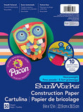 Sunworks Construction Paper, 10 Assorted Colors,  9  X 12 , 50 Sheets