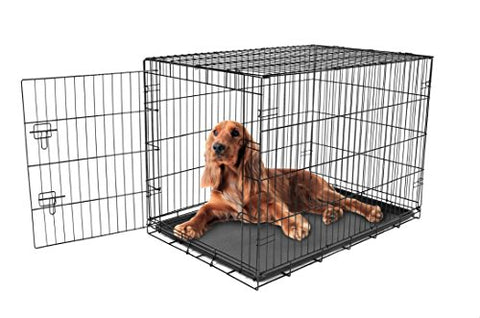 Carlson Pet Products Secure And Foldable Single Door Metal Dog Crate, Intermediate