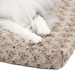 Plush Dog Bed | Ombr Swirl Dog Bed &Amp; Cat Bed | Mocha 29L X 21W X 2H-Inches For Medium Dog Breeds