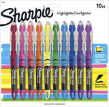 Sharpie Liquid Highlighters, Chisel Tip, Assorted Colors, 10 Count