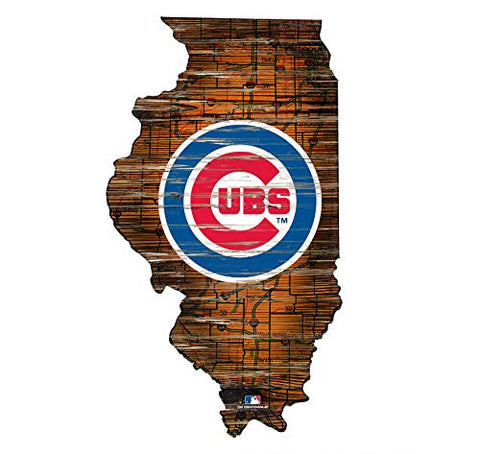 Fan Creations Chicago Cubs 12  Mini Roadmap State Sign