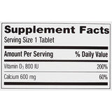 Caltrate 600+D3 (200 Count) Calcium And Vitamin D Supplement Tablet, 600 Mg