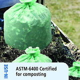 Stout By Envision E2430E85 Ecosafe-6400 Compostable Bags, 24  X 30 , 13 Gal Capacity, 0.85 Mil Thickness, Green