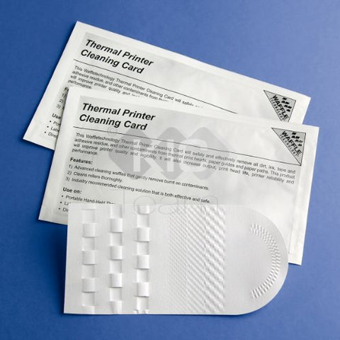 Thermal Printer Cleaning Card 3 1/8X6 / 79.38Mm X 152.4Mm (25 Cards)