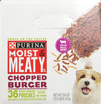 Purina Moist &Amp; Meaty Chopped Burger Adult Wet Dog Food - 36 Ct. Pouch