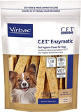 Virbac C.E.T. Enzymatic Oral Hygiene Chews, Small Dog, 30 Count