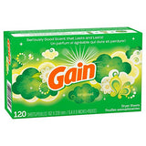 Gain Dryer Sheets, Original, 120 Count (Packaging May Vary)