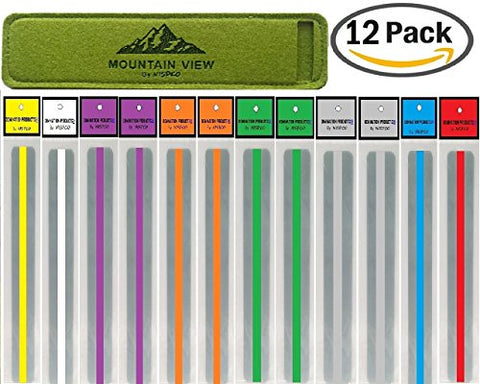 Reading Guide Strips By Nispcowith Case / Highlighter / Highlight Strips / Highlighter Tape / Colored Overlays / Bookmark /Helps With Dyslexia / Mountain View Exclusively By Nispco