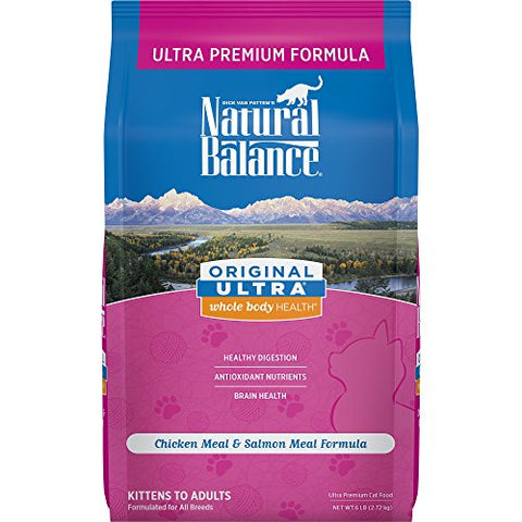 Natural Balance Original Ultra Whole Body Health Dry Cat Food, Chicken Meal &Amp; Salmon Meal Formula, 6-Pound