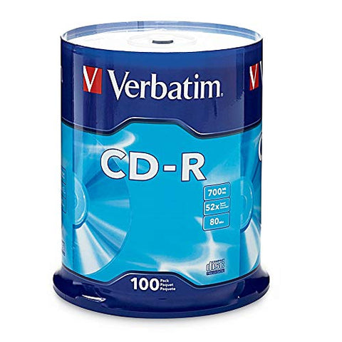 Verbatim Cd-R 700Mb 80 Minute 52X Recordable Disc - Spindle - 94554