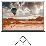 Projector Screen With Tripod Stand  Fezibo 100 Inch 4:3 Hd Projection Screen With Stand Portable Foldable For Outdoor Indoor,160 Viewing Angle