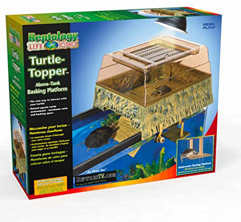 Penn Plax Turtle Tank Topper  Above-Tank Basking Platform For Turtle Aquariums, 17 X 14 X 10 Inches