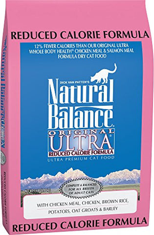 Natural Balance Original Ultra Reduced Calorie Formula Dry Cat Food, 15-Pound