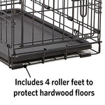 Dog Crate | Midwest Icrate 24  Folding Metal Dog Crate W/ Divider Panel, Floor Protecting Feet &Amp; Leak-Proof Dog Tray | 24L X 18W X 19H Inches, Small Dog Breed, Black