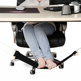 Dmcore Canvas Foot Rest Hammock, Adjustable Mini Foot Rest Stand Under Desk Home Office  (Black)