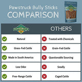 12  Straight Bully Sticks For Dogs [X-Large Thickness]  - All Natural &Amp; Odorless Bully Bones | Long Lasting Chew Dental Treats | Best Thick Bullie Sticks For K9 Or Puppies | Grass-Fed Beef