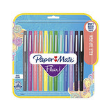 Paper Mate 1928605 Flair Felt Tip Pens, Medium Point (0.7Mm), Tropical &Amp; Classic Colors, 12 Count