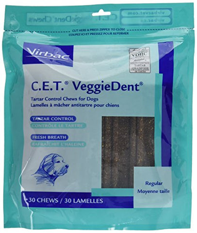 C.E.T. Veggiedent Chews, Regular, 30 Chews
