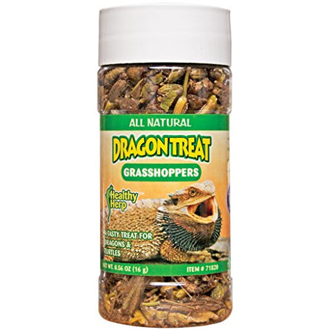 San Francisco Bay Brand Healthy Herp Dragon Treat - Grasshoppers 0.56-Ounce (15.88 Grams)
