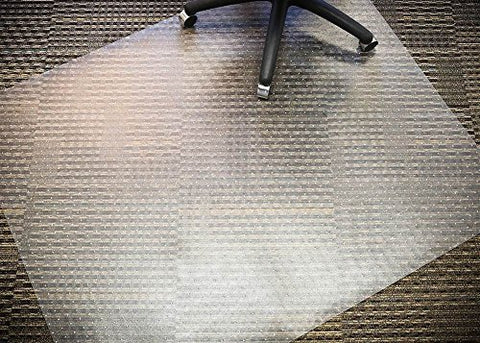 Mammoth Office Products Pvc Plastic Chair Mat For Standard Pile (3/8  In Or Less) Carpeting, Rectangular 46  X 60  (V4660Rsp)