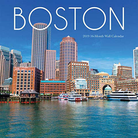 2019 Avalon Wall Calendar, Boston, 12 X 12 Inches (84429)